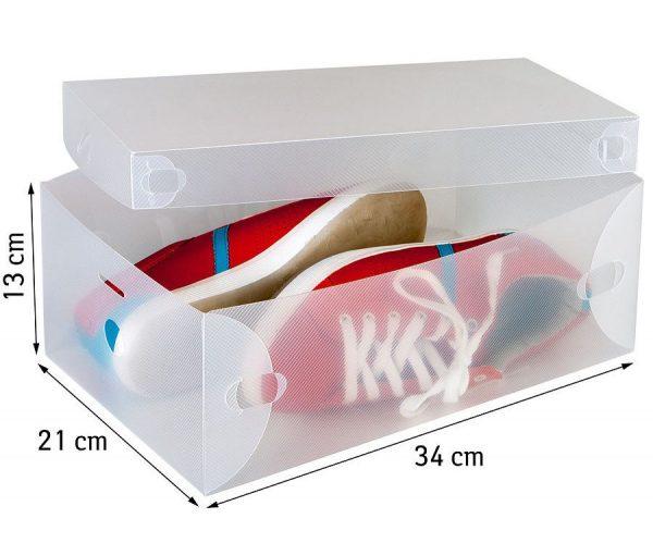 Коробка для обуви с размерами