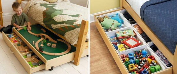 Кроватки с выдвижными ящиками