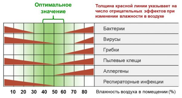 Влияние влажности на чистоту воздуха