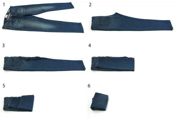 Складывание джинс