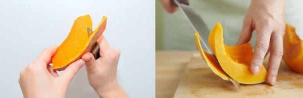 Варианты снятия кожуры с тыквы