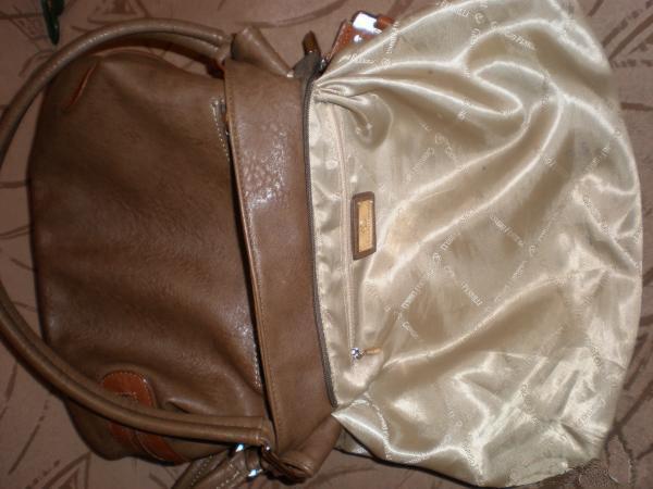 Вывернутая подкладка сумки