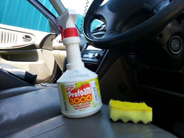 Profoam 3000 на сиденье авто