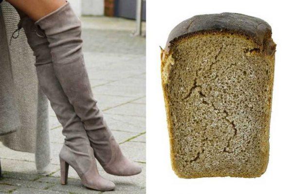 Хлебный мякиш для чистки замши