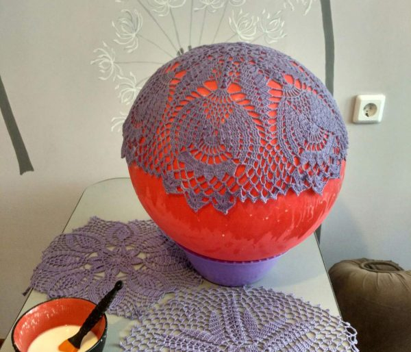Салфетка на шарике