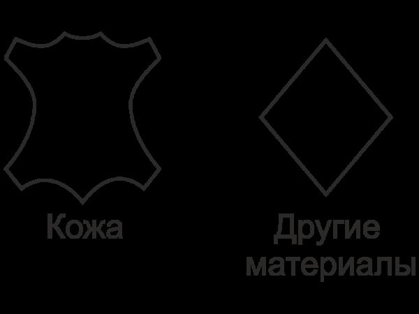 Значки натуральной кожи и кожзаменителя