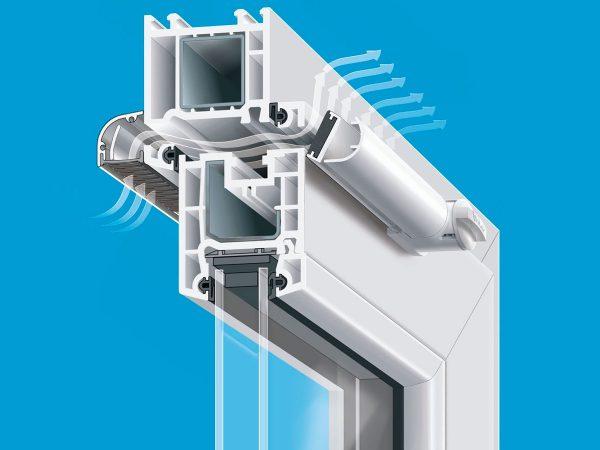 Принцип работы приточного клапана на окне