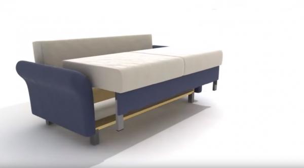 Раскладывание дивана: подъём сидения