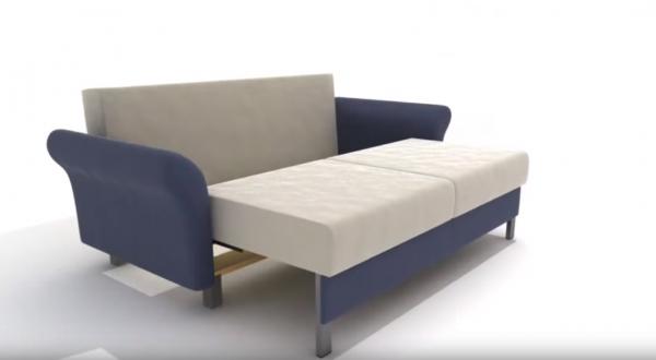 Раскладывание дивана: установка сидения