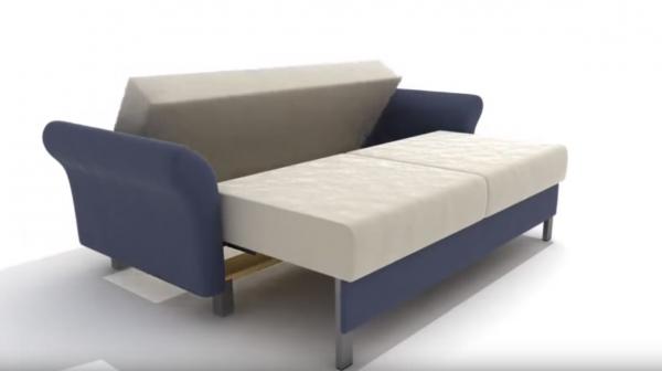 Раскладывание дивана: поворот спинки дивана