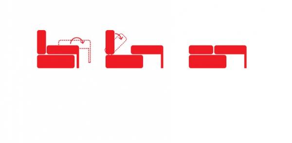 Схема раскладывания дивана-пантографа