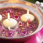 новогодние плавающие свечи