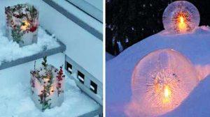 самодельные новогодние светильники 3
